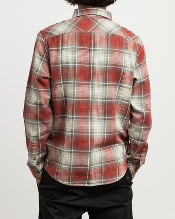 3 High Plains Plaid Flannel Grey M558SRHP RVCA