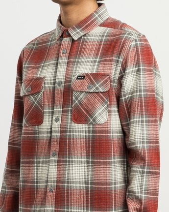 4 High Plains Plaid Flannel Grey M558SRHP RVCA
