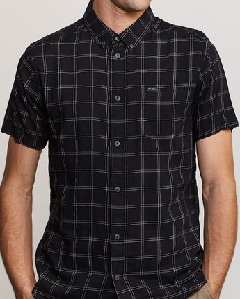 4 Pain Killer Button-Up Shirt Black M560URPK RVCA
