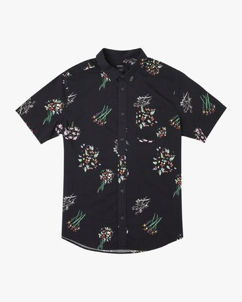 5 AR Lottie Flowers Button-Up Shirt Black M561URAL RVCA
