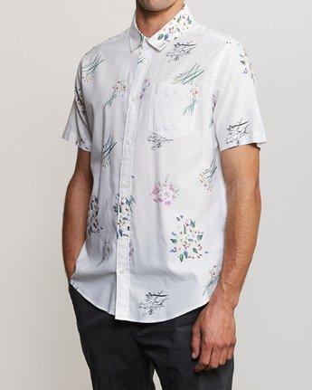 2 AR Lottie Flowers Button-Up Shirt White M561URAL RVCA