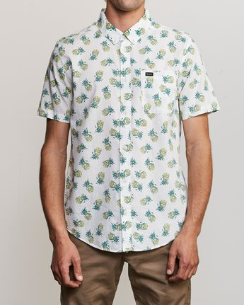 2 ANP Pack Button-Up Shirt White M561URPP RVCA