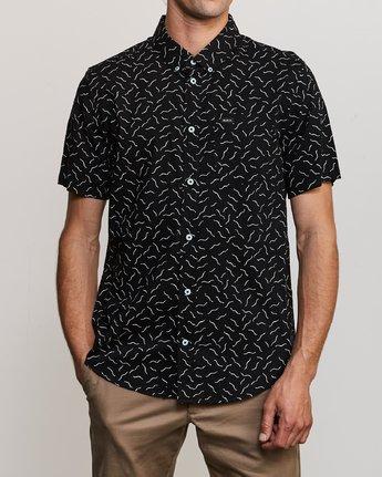 2 ANP Pack Button-Up Shirt Black M561URPP RVCA