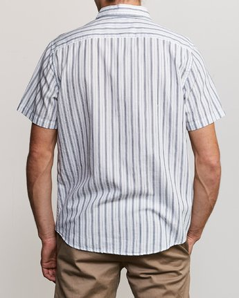 3 Shuffle Stripe Button-Up Shirt White M564URAS RVCA