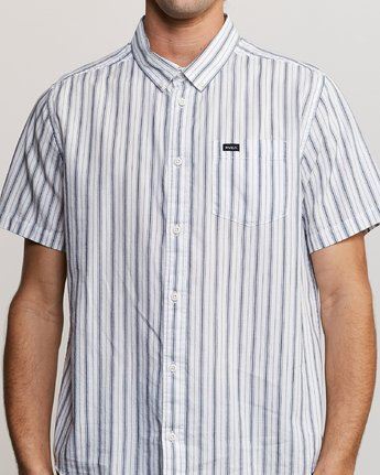 4 Shuffle Stripe Button-Up Shirt White M564URAS RVCA
