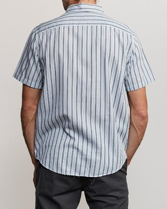 1 Shuffle Stripe Button-Up Shirt White M564URAS RVCA