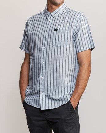 2 Shuffle Stripe Button-Up Shirt Blue M564URAS RVCA