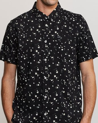 3 Elegie Floral Button-Up Shirt Black M565UREF RVCA
