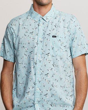 3 Elegie Floral Button-Up Shirt Blue M565UREF RVCA