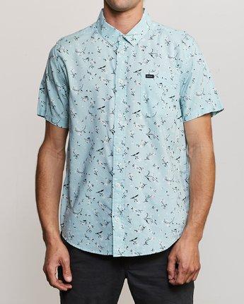 0 Elegie Floral Button-Up Shirt Blue M565UREF RVCA