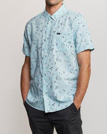 2 Elegie Floral Button-Up Shirt Blue M565UREF RVCA