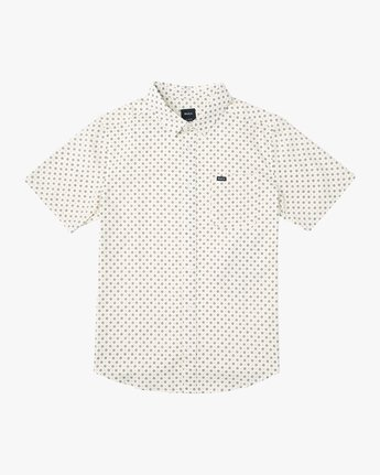 4 Gauze Dot Button-Up Shirt White M566URPD RVCA