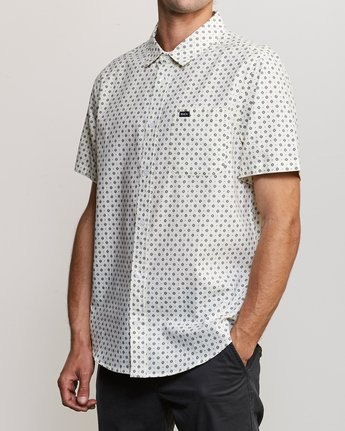 2 Gauze Dot Button-Up Shirt White M566URPD RVCA