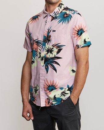 2 Romeo Floral Button-Up Shirt Pink M567URRF RVCA