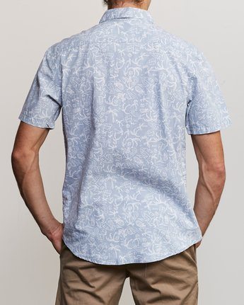 3 Sketchy Palms Button-Up Shirt Blue M572URSP RVCA