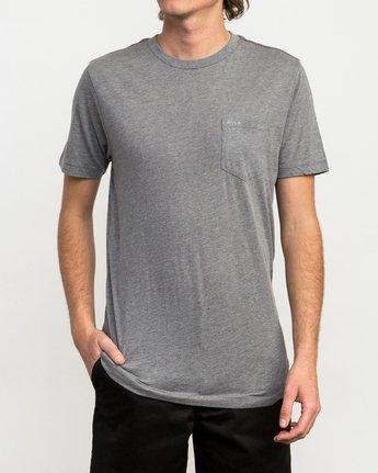 1 PTC 2 T-Shirt Grey M5912PTC RVCA