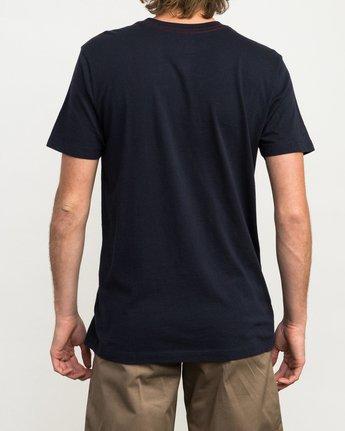 3 PTC 2 T-Shirt Blue M5912PTC RVCA
