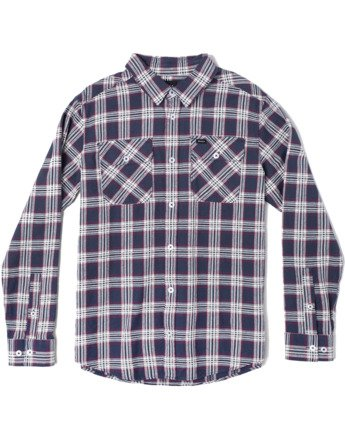 0 THATLL WORK FLANNEL LONG SLEEVE SHIRT Blue M5993RTW RVCA