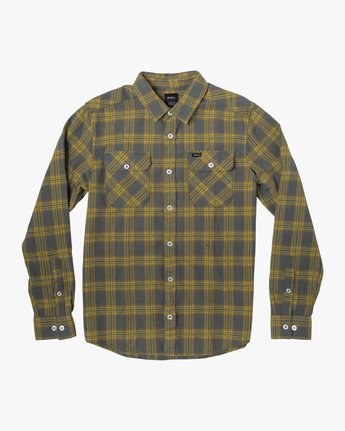 3 THATLL WORK FLANNEL LONG SLEEVE SHIRT Purple M5993RTW RVCA