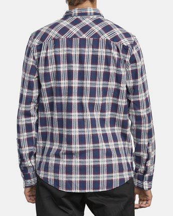2 THATLL WORK FLANNEL LONG SLEEVE SHIRT Blue M5993RTW RVCA