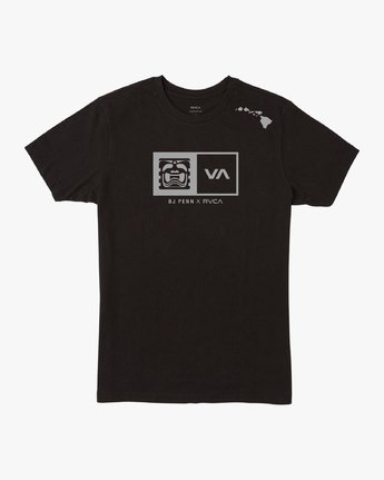 0 Penn x Edgar Cornerman T-Shirt Black M6007CBJ RVCA