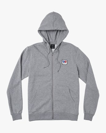 1 Branded Pack Zip-Up Hoodie Grey M601WRBR RVCA