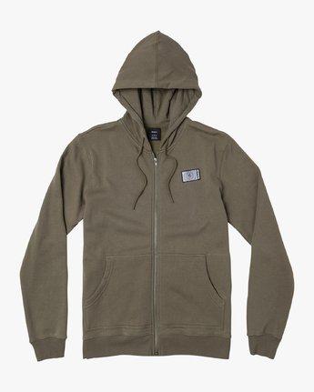 1 Branded Pack Zip-Up Hoodie Green M601WRBR RVCA
