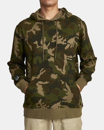 1 BOAR HUNT CAM FLEECE Brown M6022RBO RVCA