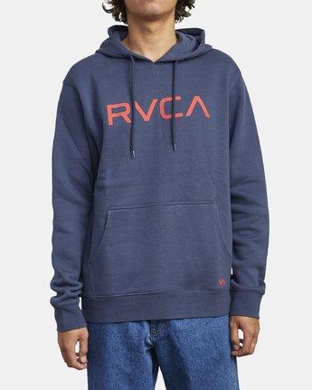 2 BIG RVCA HOODIE Blue M6023RBR RVCA