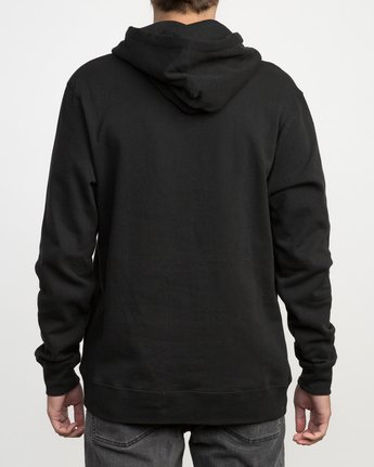 3 Horton Flag Fleece Hoodie Black M602PRHO RVCA