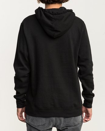 4 Island Hex Fleece Hoodie Black M602SRIS RVCA
