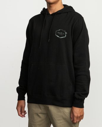 3 Island Hex Fleece Hoodie Black M602SRIS RVCA
