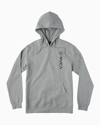 0 RVCA Sport Pullover Hoodie Grey M602SRRS RVCA