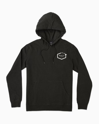 1 Island Hex Fleece Hoodie Black M602TRRV RVCA
