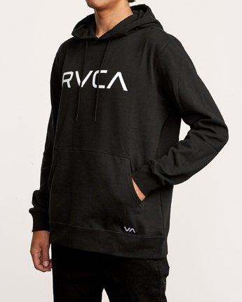 2 Big RVCA Hoodie Black M602VRBR RVCA