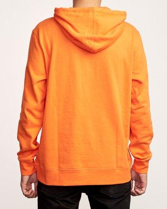 4 Big RVCA Hoodie Orange M602VRBR RVCA