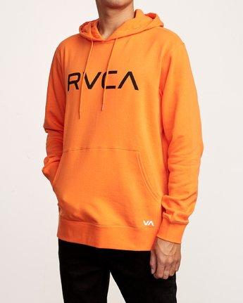 3 Big RVCA Hoodie Orange M602VRBR RVCA