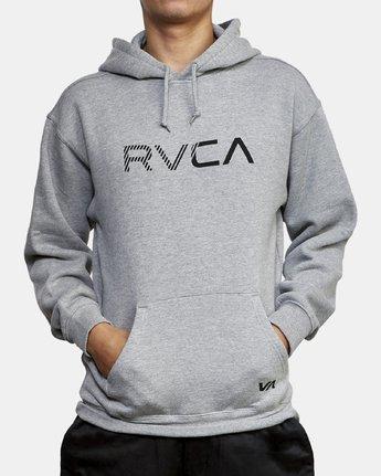 2 BIG RVCA HOODIE Grey M602WRBR RVCA