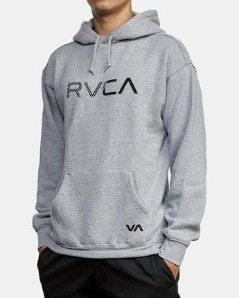 3 BIG RVCA HOODIE Grey M602WRBR RVCA