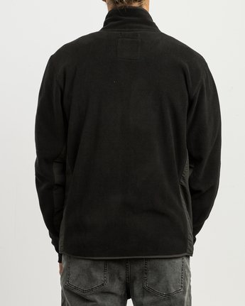 5 Theros Zip Polar Fleece Jacket Black M604SRTH RVCA
