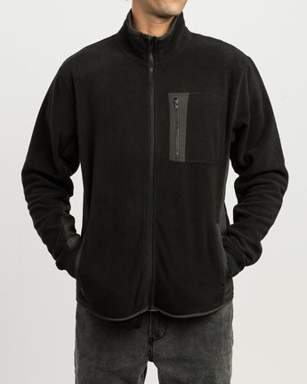 3 Theros Zip Polar Fleece Jacket Black M604SRTH RVCA