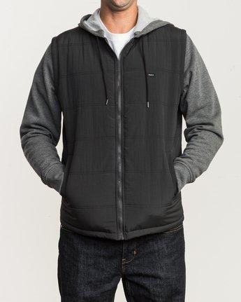 1 Logan Puffer Jacket Grey M606QRLG RVCA