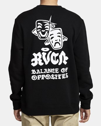 2 TRAGEDY CREW SWEATSHIRT Black M6082RTR RVCA