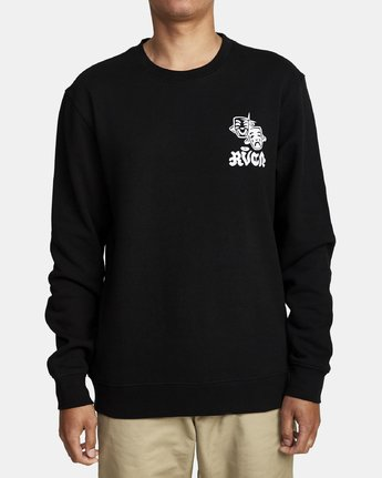 0 TRAGEDY CREW SWEATSHIRT Black M6082RTR RVCA