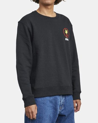 4 NOTHING CREW SWEATSHIRT Black M6083RNC RVCA