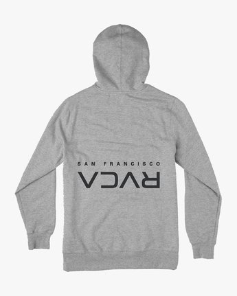 1 SF Flipped Pullover Hoodie Grey M608JRSE RVCA