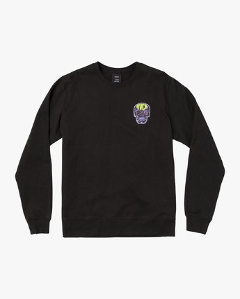 1 Leisure Crew Sweatshirt Black M608VRLC RVCA