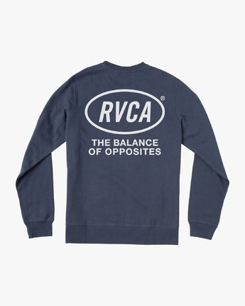 0 Leisure Crew Sweatshirt Blue M608VRLC RVCA