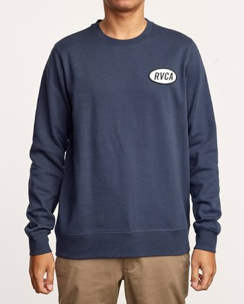 3 Leisure Crew Sweatshirt Blue M608VRLC RVCA