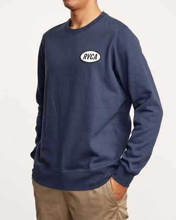 4 Leisure Crew Sweatshirt Blue M608VRLC RVCA